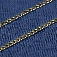 Мужская цепь из серебра Панцирная 50 см П-50