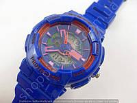 Детские часы Casio Baby G BGA-130 3543 (013512) синие с розовым водонепроницаемые