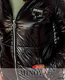 Стильная куртка батал с капюшоном и врезными карманами по бокам большого размеры: 54, 56, 58, 60, 62, 64, фото 6