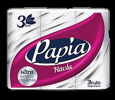 Бумажные полотенца Papia 3 слоя 3 рулона (8690536011056)