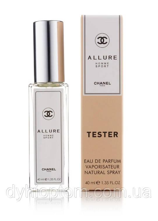 Мужской мини парфюм в тестере Allure homme Sport 40ml