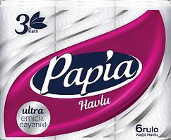 Бумажные полотенца Papia 3 слоя 6 рулонов (8690536011094)