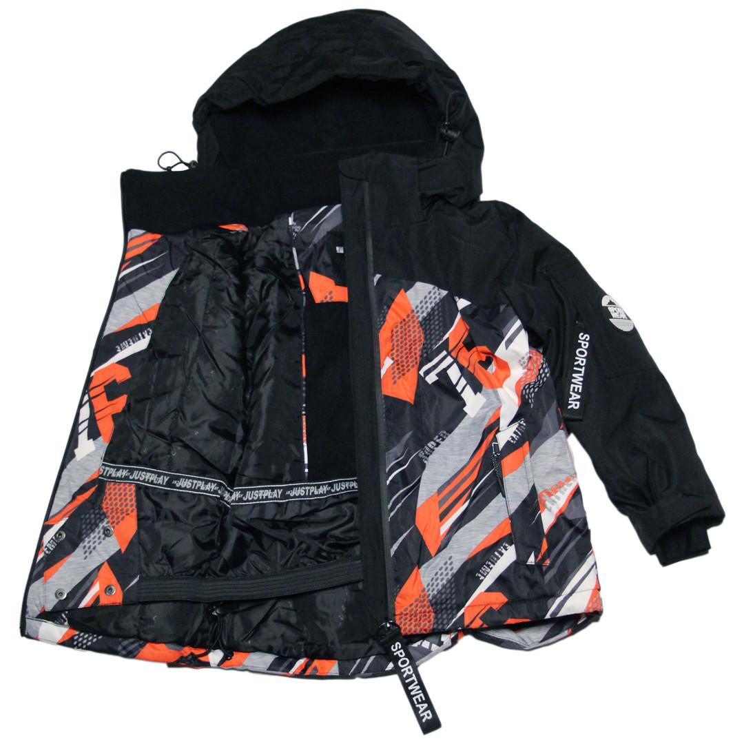 Детская зимняя термокуртка  для мальчика 104 рост Just Play серая