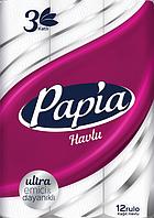 Бумажные полотенца Papia 3 слоя 12 рулонов (8690536011001)