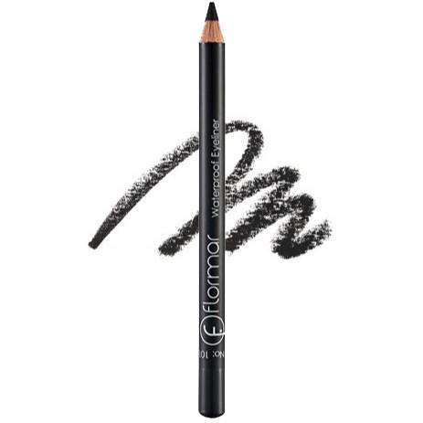 Водостойкий карандаш для глаз Flormar Waterproof Eyeliner 101 Black (Черный) 1,7 г