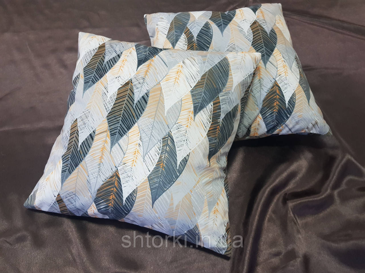 Комплект подушек абстракция листочки, 2шт