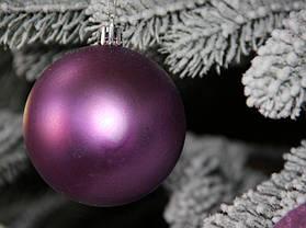 Куля новорічна фіолетова мікс D 8см (80мм), фото 2