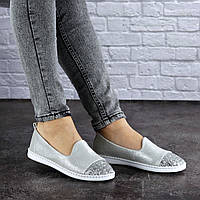 Женские кожаные туфли Fashion Tweety 1783 37 размер 23,5 см Серебро
