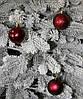 Куля новорічна темно-червона мікс D 6см (60мм), фото 3