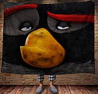 Плед з 3D принтом -Angry Birds Bomb