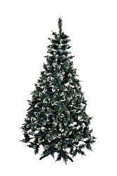 Ялинка штучна Різдвяна з шишкою і калиною блакитна 2,2 м