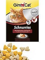 GimCat вітаміни для кішок з таурином і курочкою 325 шт