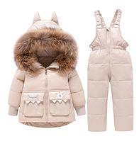 Дитячий зимовий комбінезон роздільний для дітей /детская зимняя одежда для мальчиков и девочек, утепленный