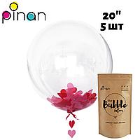 Шар Bubble Pinan, 50 см (20''), в упаковке 5 шт.