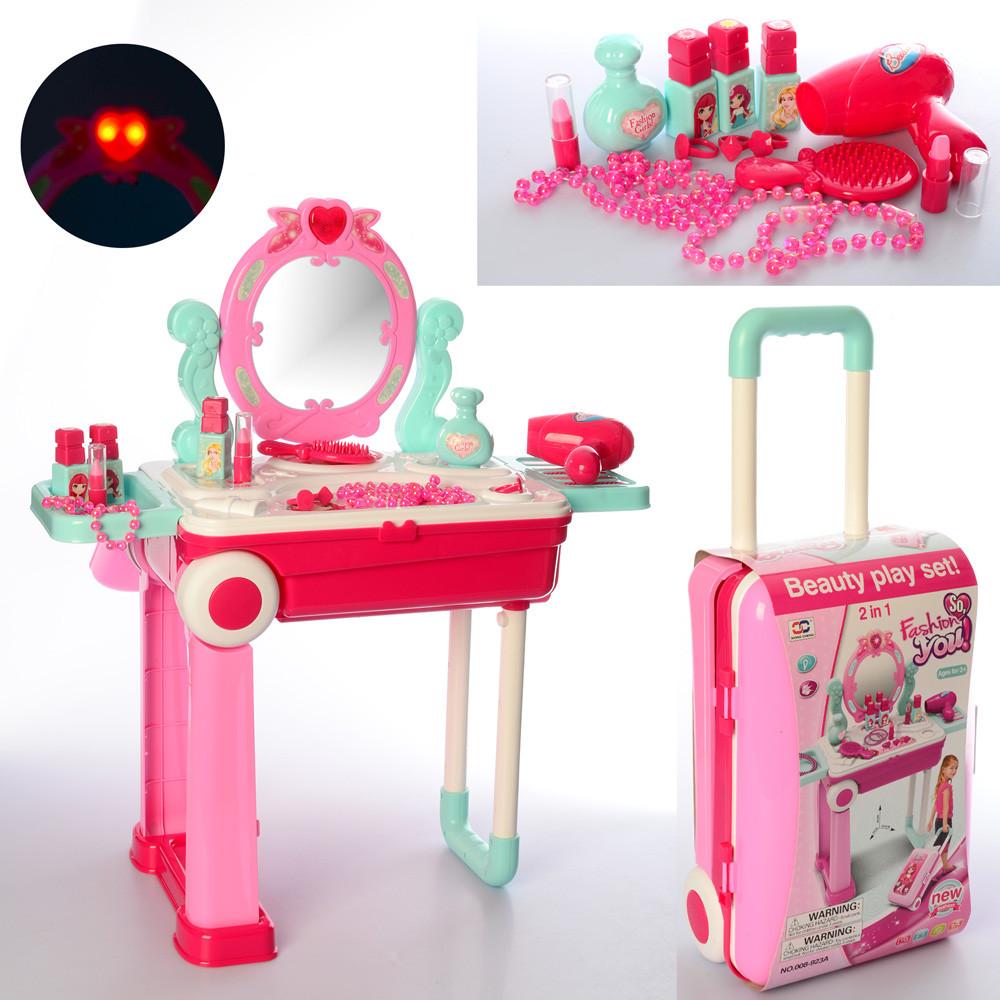 Игровой набор красавицы, Трюмо-чемоданчик 008-923A с аксессуарами