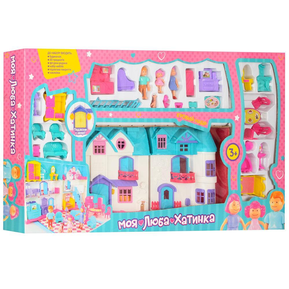 """Раскладной кукольный домик 1205 """"Моя люба хатинка"""", с мебелью и фигурками"""