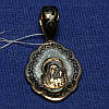 Серебряная ладанка Богородица с позолотой 341059