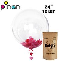 Шар Bubble Pinan, 60 см (24''), STANDART, в упаковке 10 шт.