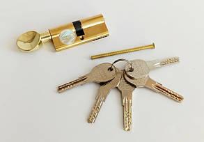Цилиндровый механизм Apecs QM 70 (35х35)-C-G золото ключ/поворотник