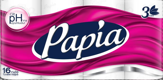 Туалетная бумага Papia 3-слойная белая (16 рулонов в упаковке)(8690536010042)