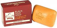 Мыло для лица и тела Nubian Heritage  Honey & Black Seed Soap