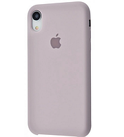 Чехол бампер накладка Silicone Case (copy) для телефона айфон iPhone XR Lavender лавандовый
