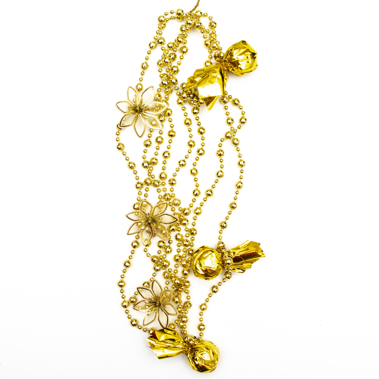 Декорация - подвеска с украшениями, 2,7 м, золото (472109-2)