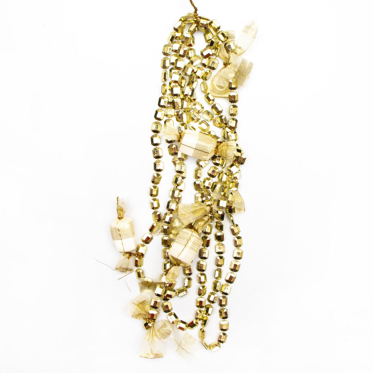 Декорация - подвеска с украшениями, 2,7 м, золото (471157-2)