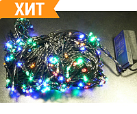 Гирлянда новогодняя светодиодная, 300 LED лампочек, 25 метров. Микс (Разноцветная)