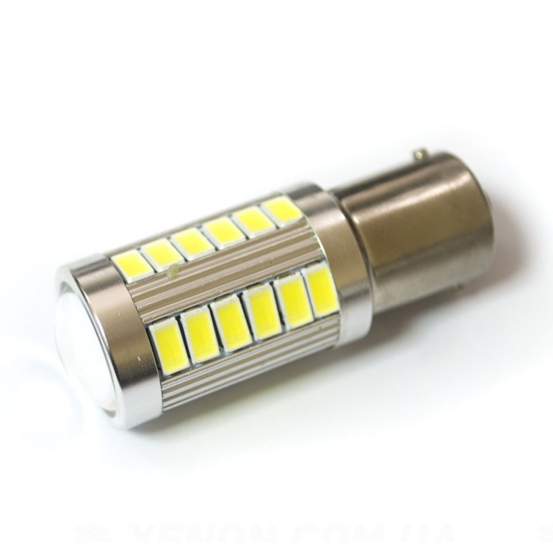 LED Galaxy S25 ( P21W 1156 BA15S ) 5630 30SMD + 5630 3SMD Lens White (Белый)