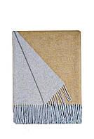 Плед шерсть 2 цвета св.серый-горчица Love You (4243) 140x200 см