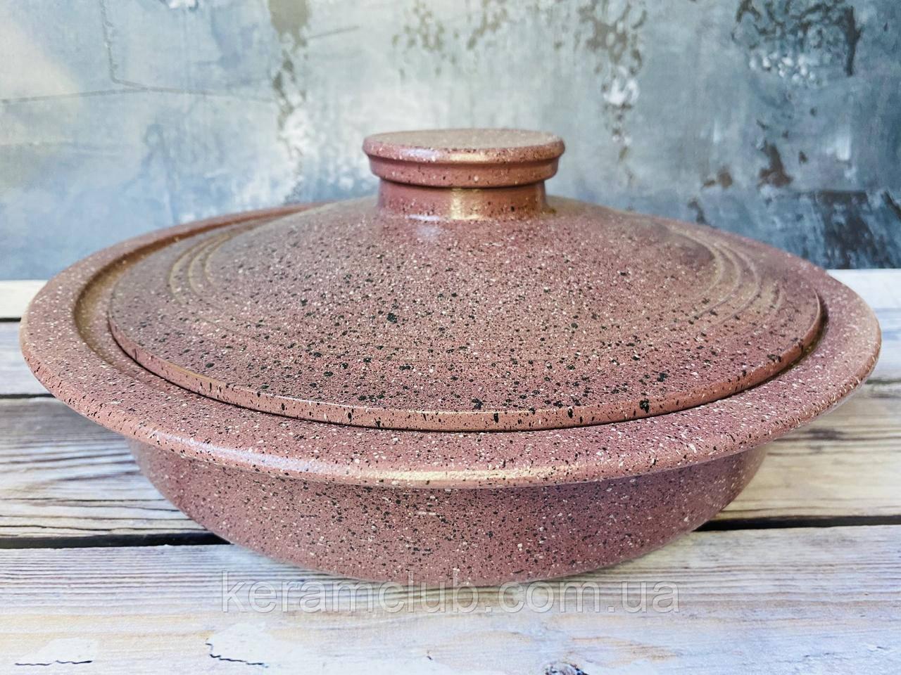 Сковорода V 2л с гранитным покрытием пыльно-розового цвета