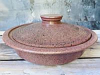 Сковорода V 2л с гранитным покрытием пыльно-розового цвета, фото 1