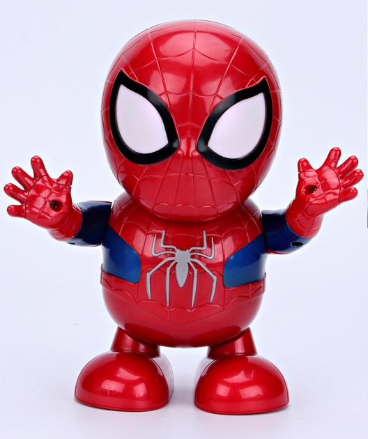 Интерактивная игрушка SUNROZ Dance Super Hero танцующий робот Spider-Man