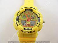 Детские часы Casio Baby G BGA-130 3543 (013513) желтые с красным водонепроницаемые