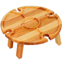 Винный столик 35х35 Менажница деревянная