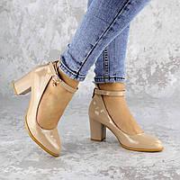 Женские туфли на каблуке Fashion Curly 2199 36 размер 23,5 см Бежевый