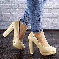 Женские туфли на каблуке Fashion Fawn 1970 37 размер 23,5 см Бежевый
