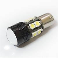LED Galaxy S25 ( P21W 1156 BA15S ) CREE Lens + 5050 12SMD 5.0 W White (Білий), фото 1