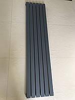 Радіатор дизайнерський вертикальний TERNI 6/1500 Антрацит матовий 1500*354, фото 1