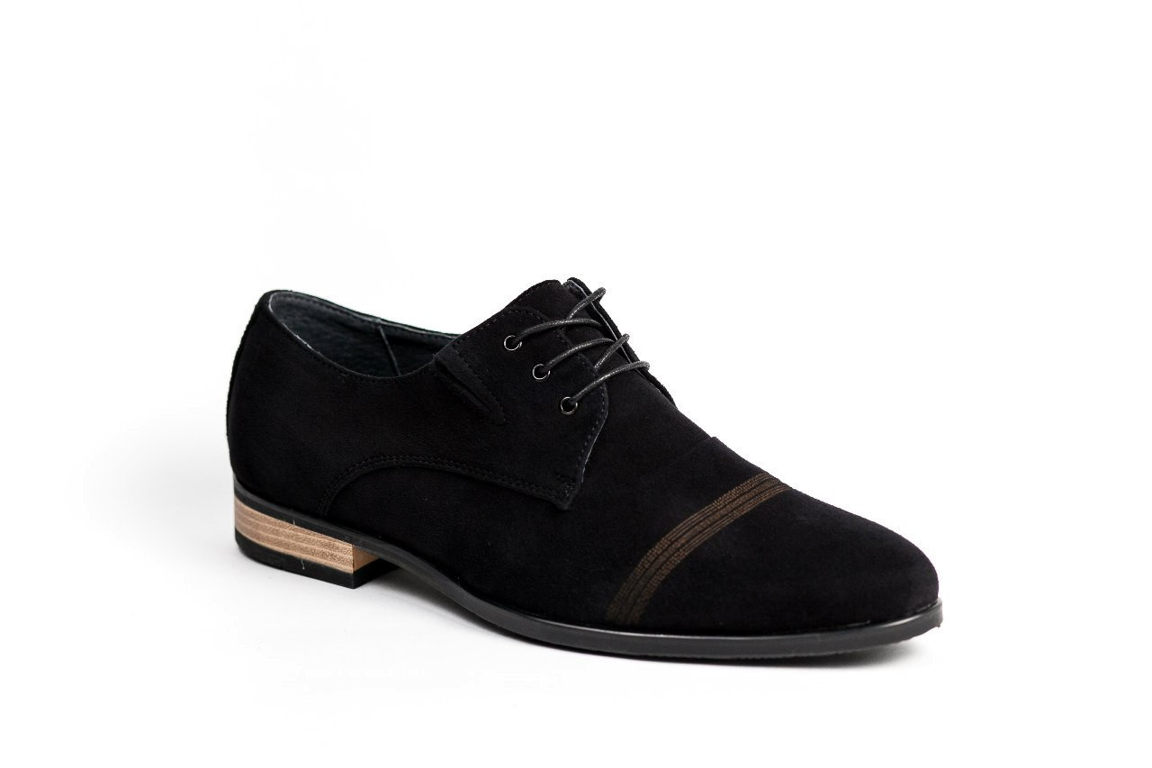 Туфлі чоловічі замшеві VadRus чорні