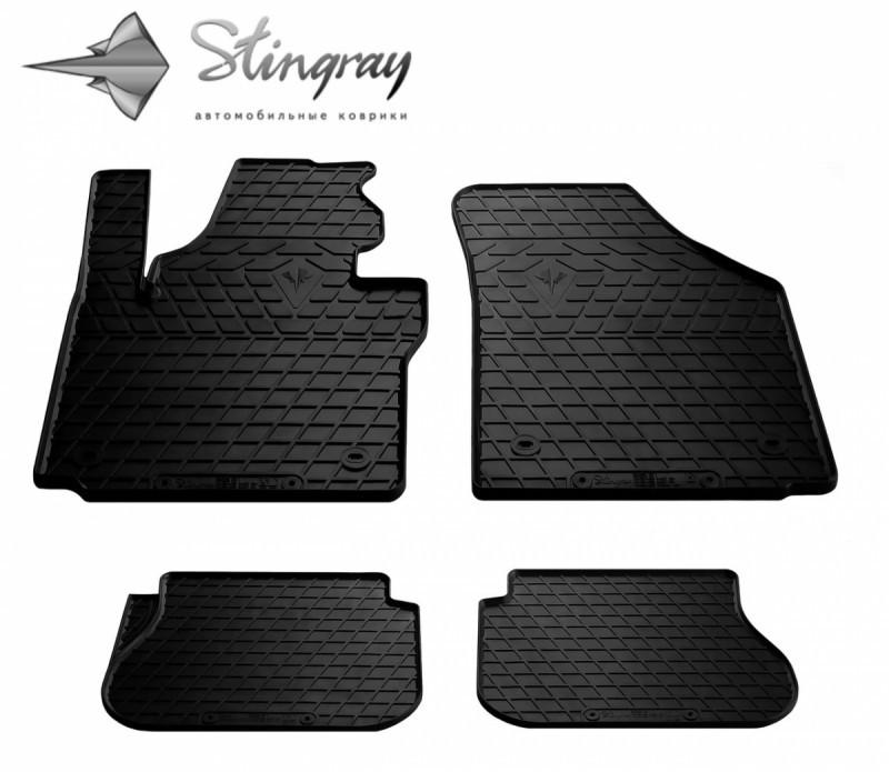Гумові килимки в автомобіль Volkswagen Caddy 2003- (Stingray)