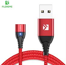 FLOVEME Магнітний кабель БЕЗ КОННЕКТОРА Колір Червоний для Android Samsung Xiaomi для зарядки
