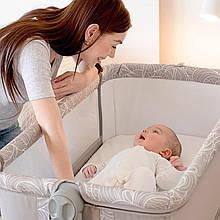 Детская кроватка - манеж  ME 1067 SLEEP&PLAY BEIGE прикроватная кроватка для новорожденных