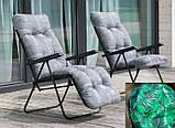 Крісло-шезлонг  з підніжкою MALAGA PLUS 153х48х6/8 см, фото 2