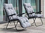 Крісло-шезлонг  з підніжкою MALAGA PLUS 153х48х6/8 см, фото 5