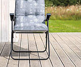 Крісло-шезлонг  з підніжкою MALAGA PLUS 153х48х6/8 см, фото 6