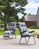Крісло-шезлонг  з підніжкою MALAGA PLUS 153х48х6/8 см, фото 7