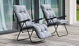 Крісло-шезлонг  з підніжкою MALAGA PLUS 153х48х6/8 см, фото 8