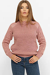 Светр жіночий з ажурною вузький по рукавах у розмірі over size